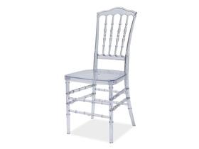 Krzesło loris transparentne/poliwęglan signal