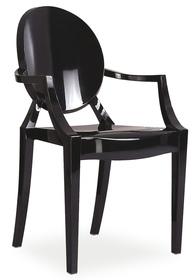 Krzesło luis czarne/poliwęglan signal