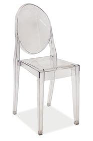 Krzesło martin transparentne/poliwęglan signal
