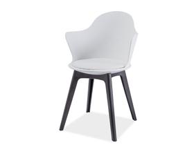 Krzesło matteo ii biały/czarny tworzywo signal