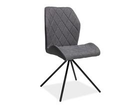 Krzesło mauro szare tkanina/eko/metal signal