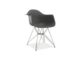 Krzesło megan szare tworzywo/metal signal