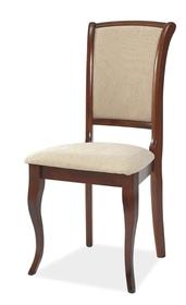 Krzesło MN-SC tkanina beż/antyczna czereśnia drewno signal