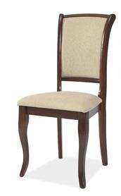 Krzesło MN-SC tapicerka t01 beż/ciemny orzech drewno signal