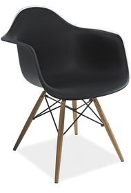 Krzesło mondi czarne/buk tworzywo/drewno signal