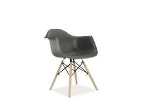 Krzesło mondi szare/buk tworzywo/drewno signal