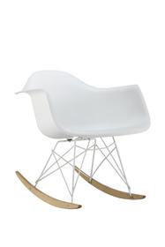 Krzesło bujane mondi ii białe/buk tworzywo/drewno signal