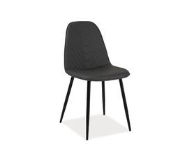 Krzesło Teo A szara ekoskóra/czarny metal signal