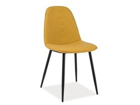 Krzesło Teo A ekoskóra curry/czarny metal signal