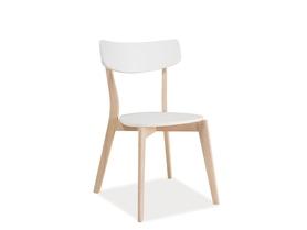 Krzesło tibi białe/dąb bielony mdf/drewno signal