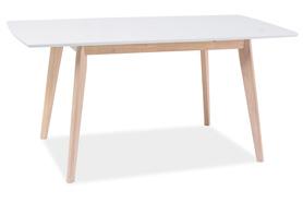 Rozkładany stół COMBO II 120(160)x80 biały/dąb bielony mdf/drewno signal