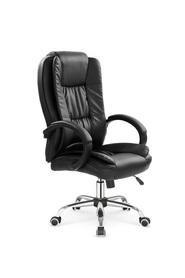 Fotel obrotowy Relax czarna eco skóra Halmar
