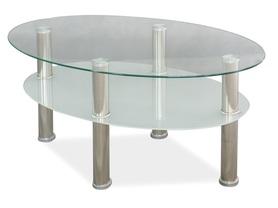 Ława Leo A szkło hartowane/chrom metal signal
