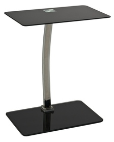 Ława Lifto czarne szkło hartowane/chrom metal signal