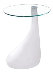 Ława lula 50x50 białe szkło hartowane/ tworzywo signal