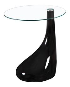 Ława lula 50x50 czarne szkło hartowane/ tworzywo signal