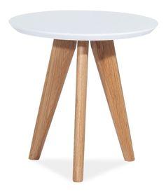 Stolik/ława milan s-1 mdf/drewno biały/dąb signal