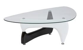 Ława omega 120x70 czarno-białe szkło hartowane/mdf signal