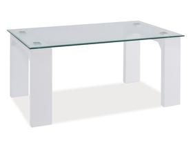 Ława scarlet 110x60 biały lakier szkło hartowane/mdf signal