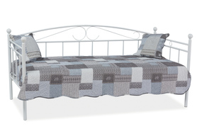 Łóżko, leżanka ankara biała/metal 90x200 signal