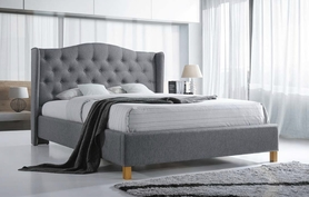 Łóżko sypialniane aspen 160x200 szara tkanina signal