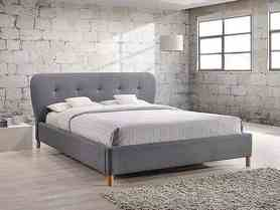 Łóżko sypialniane bella 160x200 szara tkanina signal