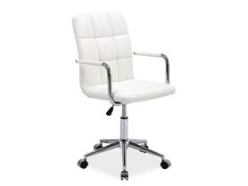 Fotel obrotowy Q-022 biała ekoskóra Signal