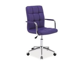 Fotel obrotowy q-022 fioletowa ekoskóra signal