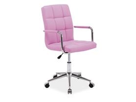 Fotel obrotowy Q-022 różowa ekoskóra Signal