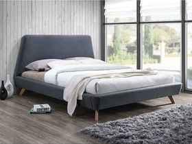 Łóżko sypialniane gant szara tkanina 160x200 signal.