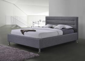 Łóżko sypialniane Liden szara tkanina 160x200 signal