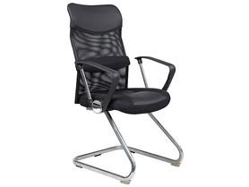 Fotel biurowy q-030 płozy czarna tkanina signal