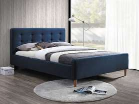 Łóżko sypialniane Pinko granat tkanina 160x200 signal