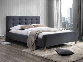 Łóżko sypialniane Pinko szara tkanina 160x200 signal