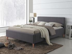 Łóżko sypialniane seul szara tkanina 160x200 signal.