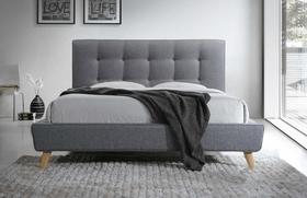 Łóżko sypialniane sevilla szara tkanina 160x200 signal.