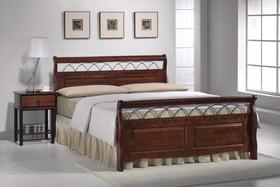 Łóżko sypialniane verona czereśnia antyczna 160x200 drewno+metal signal