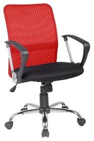 Fotel obrotowy q-078 czerwono - czarna tkanina signal