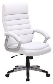 Fotel obrotowy q-087 biała ekoskóra signal