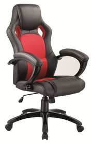 Fotel obrotowy q-107 czarno - czerwona ekoskóra + tkanina signal