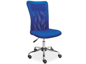 Fotel obrotowy q-122 niebieska tkanina + ekoskóra signal