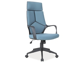 Fotel obrotowy q-199 niebiesko - czarna tkanina signal