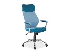 Fotel obrotowy q-319 niebieska tkanina signal