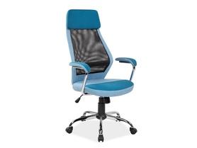 Fotel obrotowy Q-336 niebieska tkanina/czarna siatka Signal