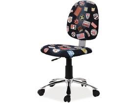 Fotel obrotowy zap 1 tkanina czarny jeans signal