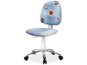 Fotel obrotowy zap 2 tkanina niebieski jeans signal