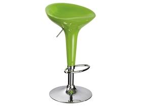 Stołek barowy/hoker a-148 zielony plastik/chrom signal