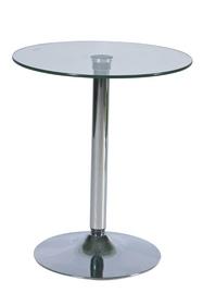 Stolik barowy b-100 szkło hartowane/chrom signal