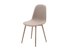 Krzesło Fox beżowa tapicerka/dąb metal signal