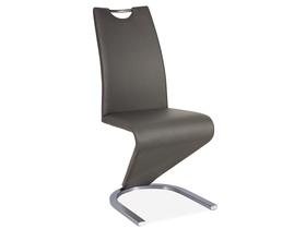 Krzesło h-090 szary/stal szczotkowana ekoskóra signal